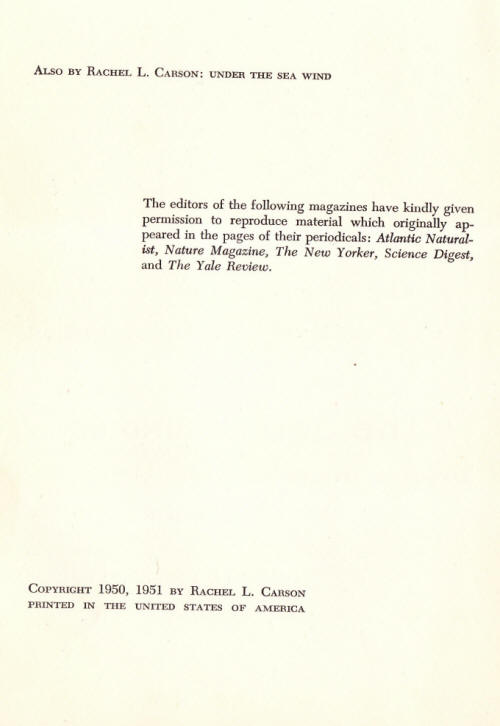 Copyright page Oxford first printing
